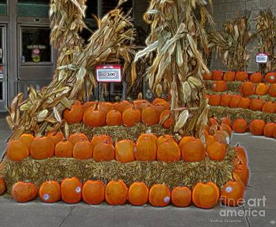 Photograph - Urban Pumpkin Patch by Kathie Chicoine
