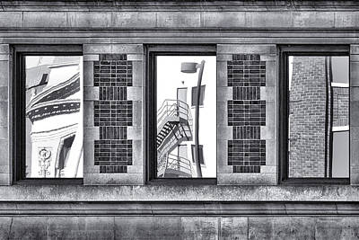 Photograph - Urban Reflection Triptych by Nikolyn McDonald