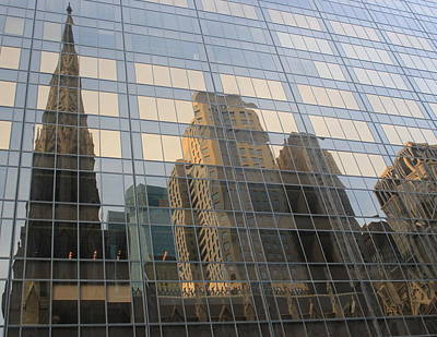 Photograph - Urban Reflections - New York City by Dora Sofia Caputo Photographic Design and Fine Art
