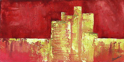 Development Painting - Urban Renewal I by Shadia Derbyshire