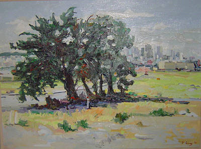 Urban Renewal Survivor Tree Original by Pat Gray
