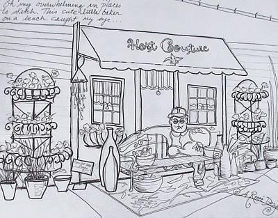 Drawing - Urban Sketch At Beaver Bark by Renee Marie Martinez
