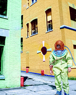 Astronauts Mixed Media - Urban Spaceman 1 by Dominic Piperata