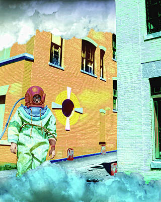 Astronauts Mixed Media - Urban Spaceman 2 by Dominic Piperata