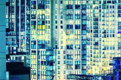 Photograph - Urban Sprawl Downtown Moonlit by Amyn Nasser