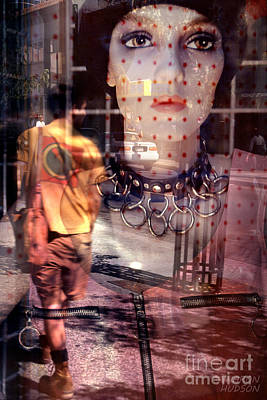 Photograph - urban streetscapes - People Watching by Sharon Hudson