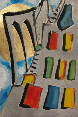 Painting - Urban Sun Ny by Krisztina Asztalos