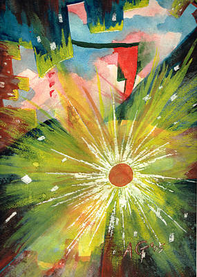 Painting - Urban Sunburst by Andrew Gillette