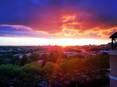 Photograph - Urban Sunset by Chris Montcalmo