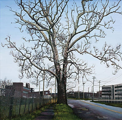 Painting - Urban Tree by Maria Rizzo