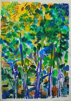 Painting - Urban Trees by Zolita Sverdlove