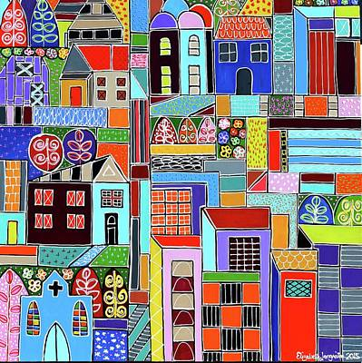 Painting - Urban Village by Elizabeth Langreiter