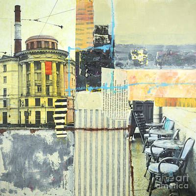 Mixed Media - Urban Walks 1 by Elena Nosyreva