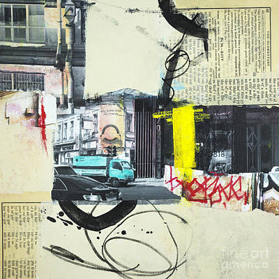 Mixed Media - Urban Walks 2 by Elena Nosyreva