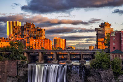 Urban Waterfall Art Print by Mark Papke