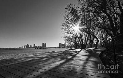 Photograph - Urban Waterfront Boardwalk by Charline Xia