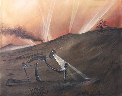 Post Apocalyptic Painting - Urgent by Austin Howlett