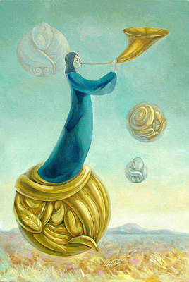 Surrealism Mixed Media Royalty Free Images - Uriel Royalty-Free Image by Filip Mihail