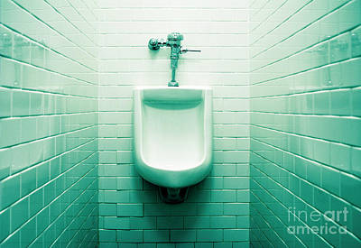 Urinal In Men's Restroom. Art Print by John Greim