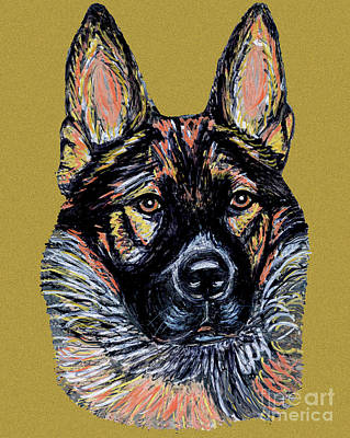 Print featuring the painting Urlike Gsd by Ania M Milo