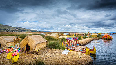 Art Print featuring the photograph Uros Life by Gary Gillette