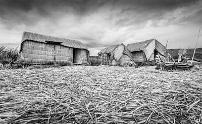 Photograph - Uros Native Huts by Gary Gillette