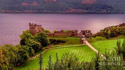 Photograph - Urquhart Castle At Loch Ness 2 by Joan-Violet Stretch