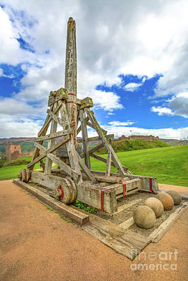 Photograph - Urquhart Castle Catapult by Benny Marty