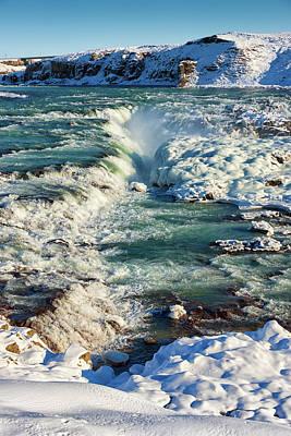 Urridafoss Waterfall Iceland Art Print by Matthias Hauser