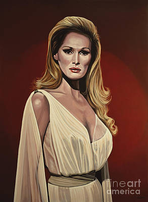 Swiss Painting - Ursula Andress 2 by Paul Meijering