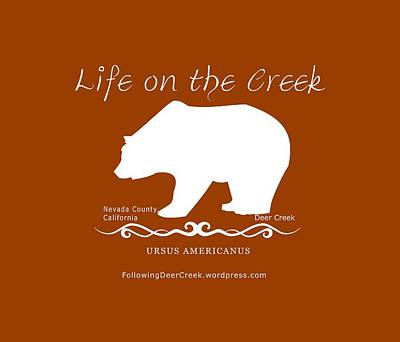 Digital Art - Ursus Americanus - White Text by Lisa Redfern