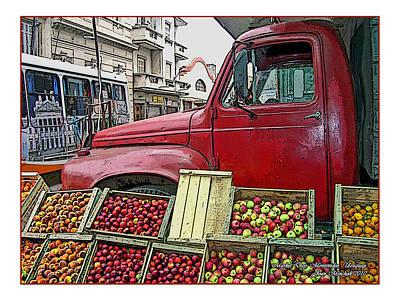 Photograph - Uruguay Truck In Montevideo by Joan  Minchak