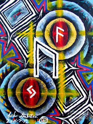 Painting - Uruz Jera Ansuz by Luke Galutia