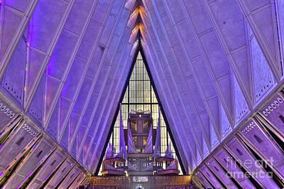 Photograph - U S Air Force Academy Chapel Organ by David Bearden