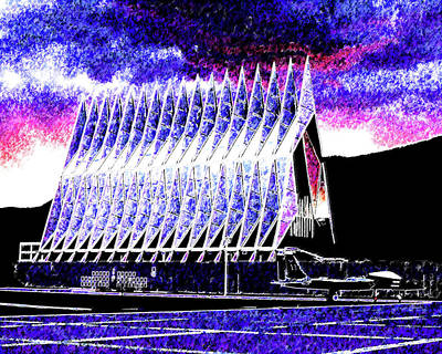 Mixed Media - Us Air Force Academy by DJ Fessenden
