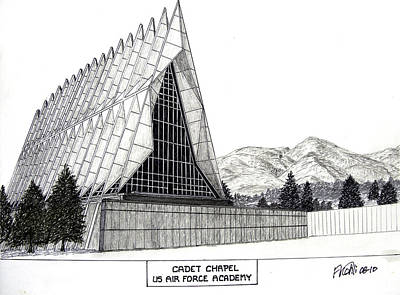 Mixed Media - Us Air Force Academy by Frederic Kohli