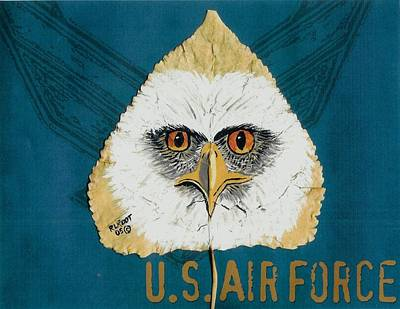 Painting - U.s. Air Force Eagle by Ralph Root