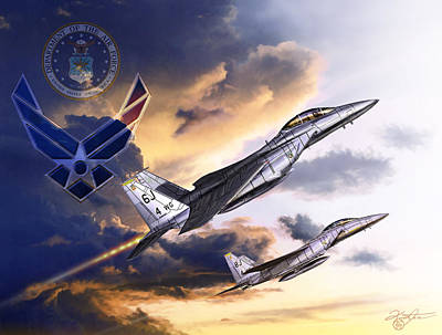 Us Air Force Art Print by Kurt Miller