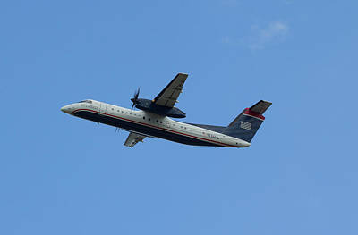 Photograph - Us Airways Dash 8 N336en by Joseph C Hinson Photography