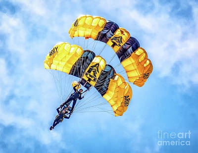 Photograph - U.s. Army Golden Knights by Nick Zelinsky