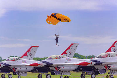 Photograph - U.s. Army Golden Knights - Thunderbirds by Jack R Perry