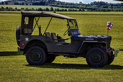 Jeep Photograph - Us Army Jeep by Martin Newman