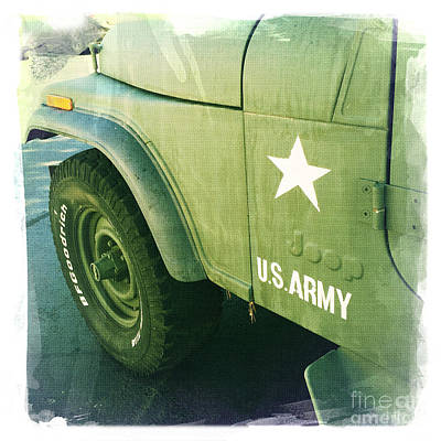 Car Photograph - Us Army Jeep by Nina Prommer