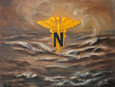 Desert Scape Painting - U.s. Army Nurse Corps Desert Storm by Marlyn Boyd