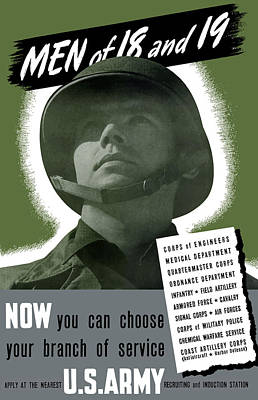 Vintage Us Army Recruiting Poster Art Print by War Is Hell Store