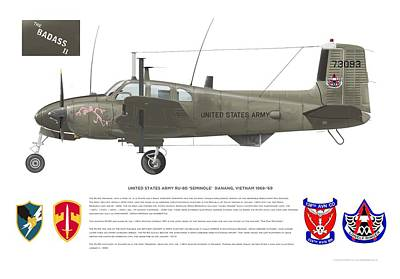 Digital Art - U.s. Army Ru-8d 138th by Rick Blyseth