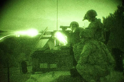 Photograph - Us Army Soldiers Engage Targets During The Convoy Live Fire Exercise by Paul Fearn