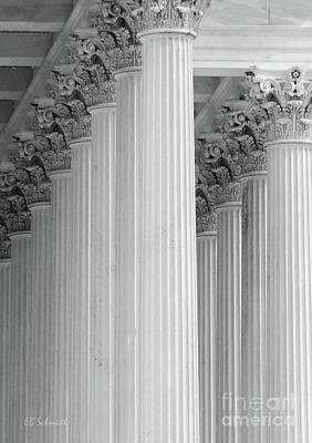 Photograph - United States Capital Columns by E B Schmidt