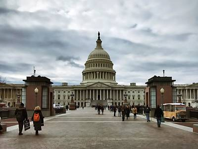Photograph - U.s. Capitol Building by Chris Montcalmo