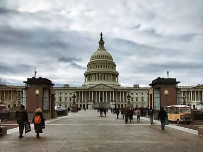 Photograph - U.s. Capitol Building by Chris Montcalmo